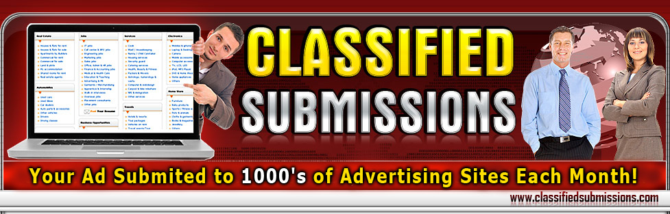 Classified Ad Submission Service Affiliate Tools Page