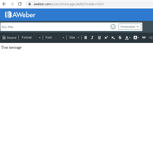 how to create a landing page with aweber